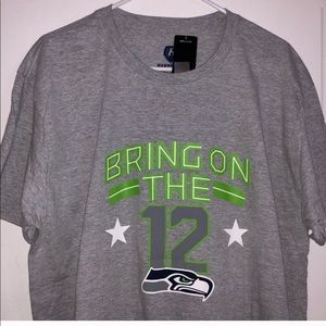 Men's Gray Seattle Seahawks Shirt Large
